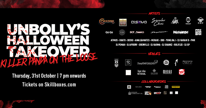 13+ venues, 15+ Genres, 25+ artists: Delhi to witness its Biggest Halloween Night Ever